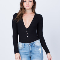 L/S Ribbed Bodysuit