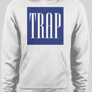 "GAP LOGO PARODY ""TRAP"" WINTER PULL OVER HOODIE"