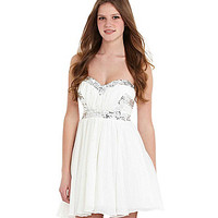 Jodi Kristopher Strapless Beaded Dress | Dillards.com