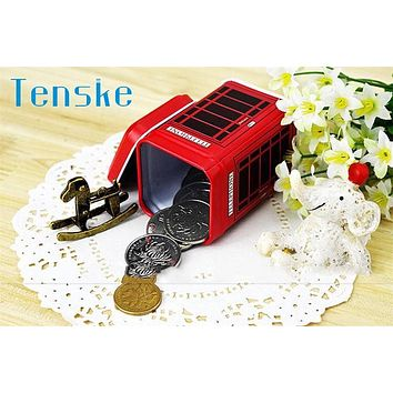 Tenske red creative Metal Candy Trinket Tin Jewelry Iron Tea Coin Storage Square Box Case *30 Gift 4.3*4.3*6.5cm Drop