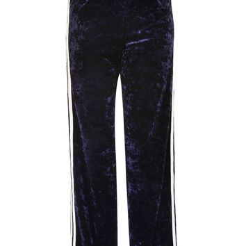 Velvet Side Striped Track Pants - New In Fashion - New In