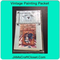 Vintage Painting Packet #7 Ethnic Girl on Heart