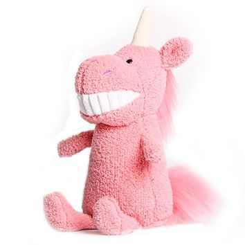 unicorn stuffed animals kawaii plush toys unicorn plush pink red gray baby doll Smile big tooth doll creative mini cute girl toy