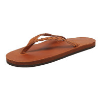 Flirty Braidy Leather Sandal in Tan by Rainbow Sandals