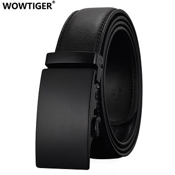 Fashion Designers Men Automatic Buckle Leather