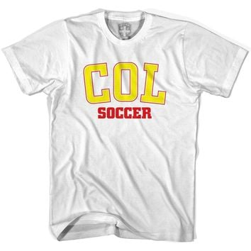 Colombia COL Soccer Country Code T-shirt-Adult