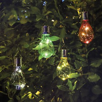 5 LED Waterproof Solar Rotatable Outdoor Garden Decor Camping Hanging LED Light Lamp Bulb Circuit Christmas Trees Kerst 2017@T20