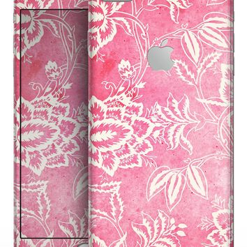 Red and White Floral Damask Pattern - Skin-kit for the iPhone 8 or 8 Plus