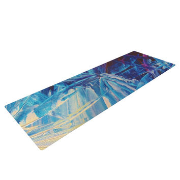 "Ebi Emporium ""Night Flowers"" Blue White Yoga Mat"
