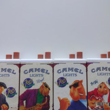 Vintage Joe Camel Cigarette Lighter Set of 4
