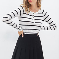 FOREVER 21 Striped Henley