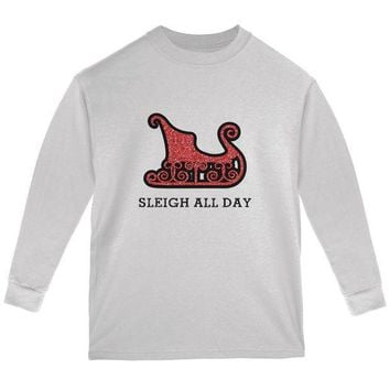 ESBGQ9 Christmas Sleigh Slay All Day Youth Long Sleeve T Shirt