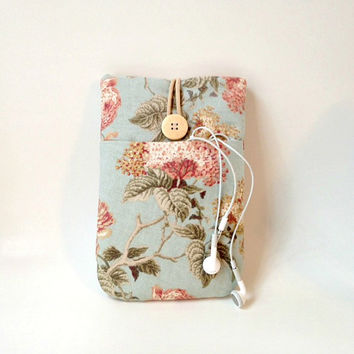 Vintage Floral iPad Mini Case with Pocket, i Pad Minis 4, 3, 2,  Womens Sleeve Padded Flower Fabric Cover Gadget Bag Tablet eReader  Sac New