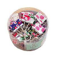 Lovely Cute Printing Style Metal Binder Clips/Paper Clips/ Clamps(1 Box 24 sets)
