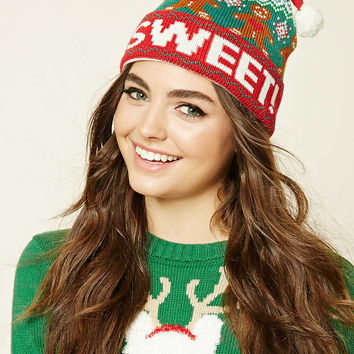 Sweet Holiday Graphic Beanie