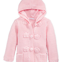 First Impressions Baby Girls' Flower Crochet Jacket