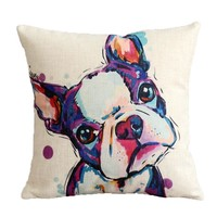 Artistic Boston Terrier Cushion Cover