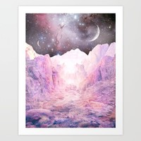 Misty Mountains Art Print by Starseed Designs