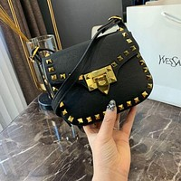 Valentino Rivet Leather Mini Shoulder bag