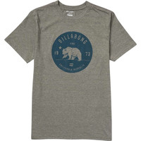 Billabong Mens - Grizzly California Tee | Dark Grey Heather