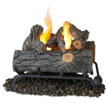 Fireplace Logs - Artificial Oak