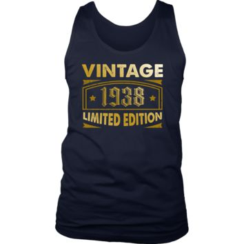 Men's Vintage 1938 80 Year Old Birthday Gift Tank Top