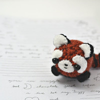 red panda plush amigurumi animal