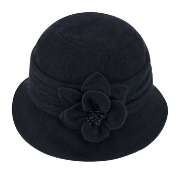 Lawliet Womens Gatsby 1920s Winter Wool Cap Beret Beanie Cloche Bucket Hat A299