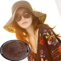 2016 Band New Women's Hollow Crochet Hats Dome Summer Mesh For Women Straw Hat Foldable Sun Hat Beach Hat Fashio