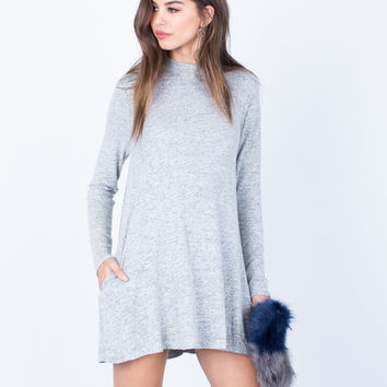 Comfy Knit Tunic Dress - Large