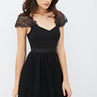 FOREVER 21 Lace Sleeve Chiffon Dress