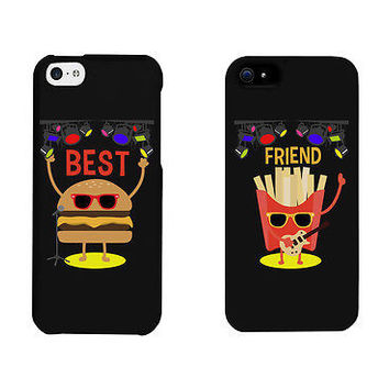 Hamburger And Friese Rock Stars Cute BFF Mathing Phone Cases Gift