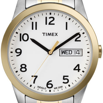Timex Mens Brown Leather Classic Dress Watch