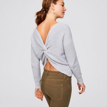 Twist Back Sweater | LOFT