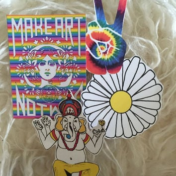 Mini Hippie Sticker Set