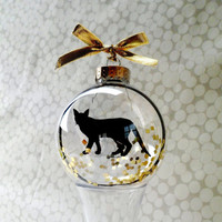 Cat Silhouette Ornament Globe