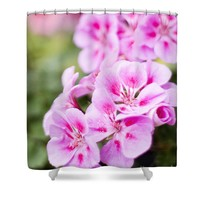 Pink flowers - periwinkle Shower Curtain for Sale by Ivy Ho