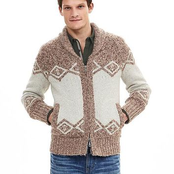 Banana Republic Mens Heritage Shawl Zip Sweater Jacket