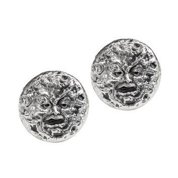 Alchemy Gothic Man In The Moon Stud Earrings Jewelry Mera Luna