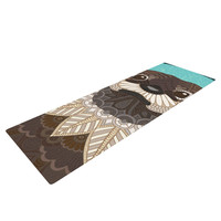 "Art Love Passion ""Otter in Water"" Blue Brown Yoga Mat"