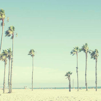 Beach Photography Venice Beach Palms Blue Summer Californina Wall Art Santa Monica Blvd oceanside 8x10