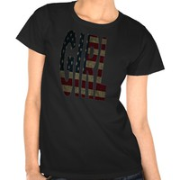 GIRL AMERICAN FLAG DESIGN SHIRT