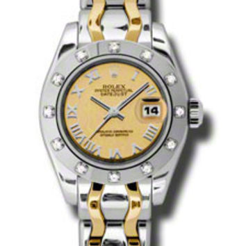Rolex - Datejust Pearlmaster Lady Bicolor - 12 Diamond Bezel