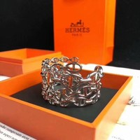 Hermes Enamel Couvertures Nouvelle Extra Wide Bangle Bracelet