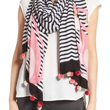 kate spade new york monkey rose stripe scarf | Nordstrom