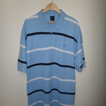 KARL KANI Polo Shirt Kani Gold Hip Hip Street Wear Rappers Swag Stripe Men Clothing XX