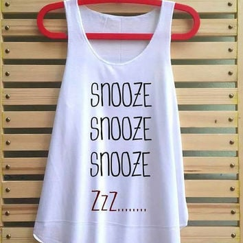snooze shirt tank top vintage singlet clothing vest tee tunic - size S M L