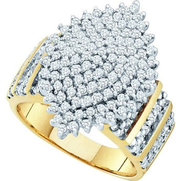 Diamond Cluster Ring in 10k Gold 1 ctw