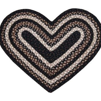 Mocha/Frappuccino Braided Rug In Different Shapes And Sizes