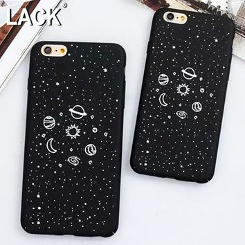 LACK Cartoon Universe Series Case For iphone 6 Case Planet Moon Sun Stars Airship Cover Hard Phone Cases For iphon 6S 6 PLus